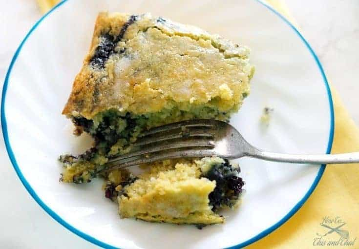 Award Winning Homestyle Blueberry Cornbread
