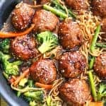 One Pot Sesame Chicken Meatballs