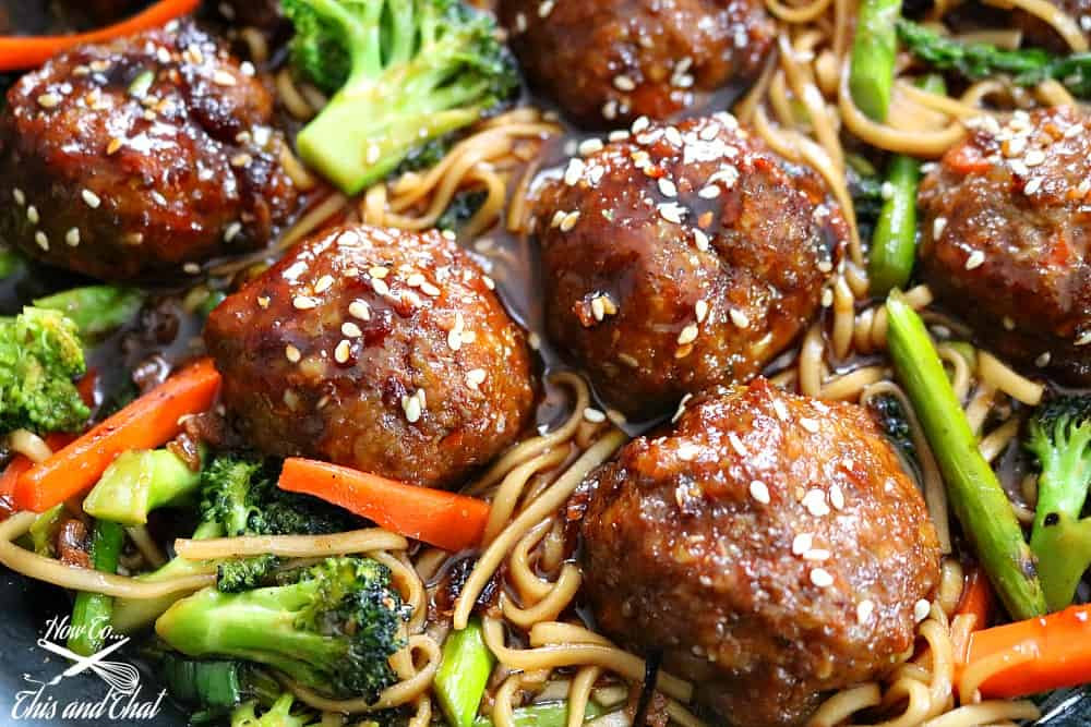 sesame chicken meatball