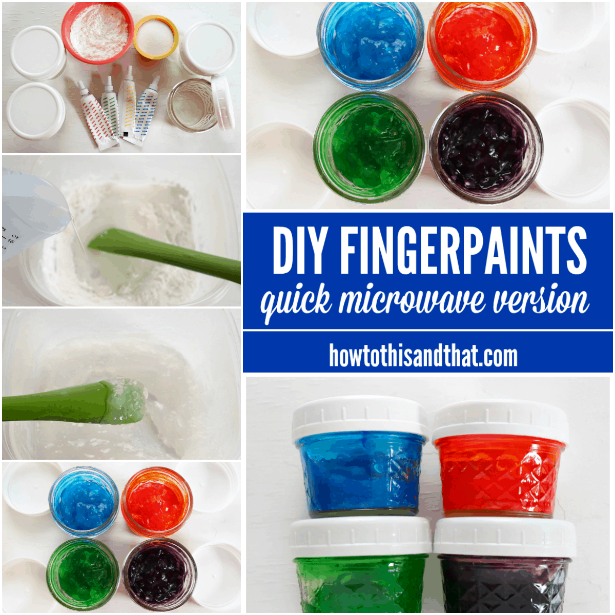 DIY fingerpaints