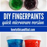 DIY Fingerpaint Recipe Plus Spaghetti Painting! #Clean2TheCore