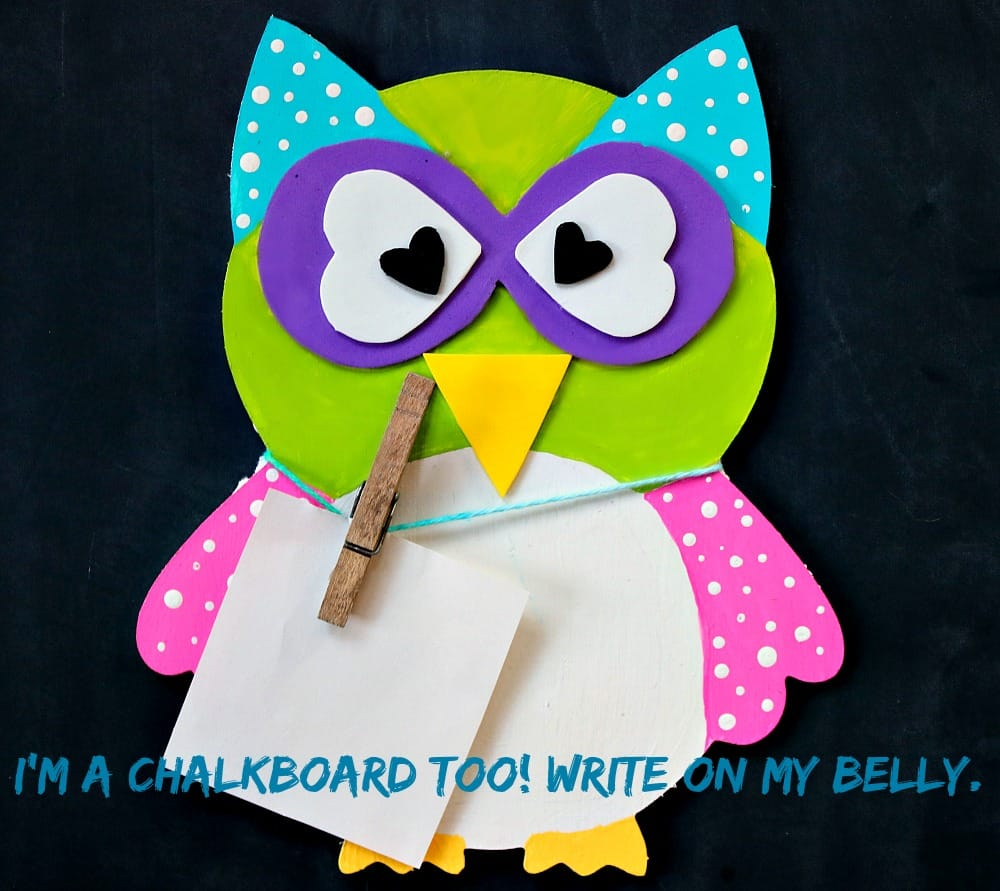 chalkboard owl craft
