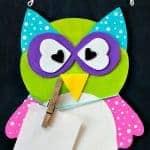 Easy Chalkboard Owl Craft Reminder