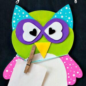 chalkboard owl craft