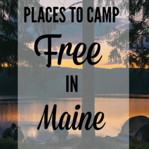 free camping in maine