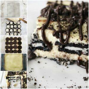 Oreo Cheesecake Layered Bars