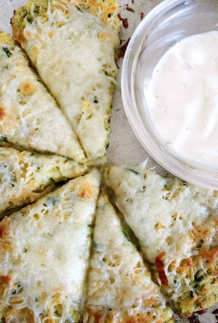 Parmesan Ranch Zucchini Pizza- Easy & Low Carb!