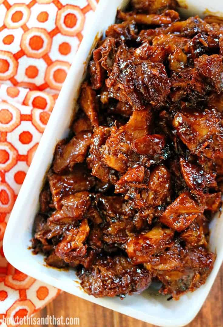 Slow Cooker Pork- Sweet & Spicy Brown Sugar
