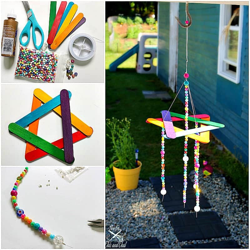 EASY Kids Craft- DIY Beaded Wind Chime- Dollar Store DIY