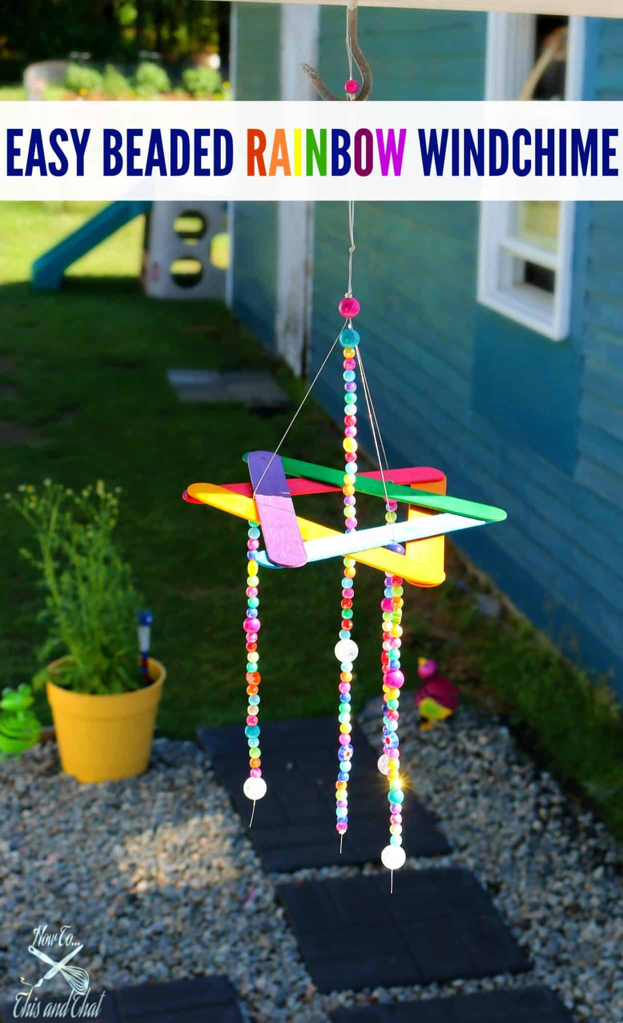 DIY Beaded Wind Chime