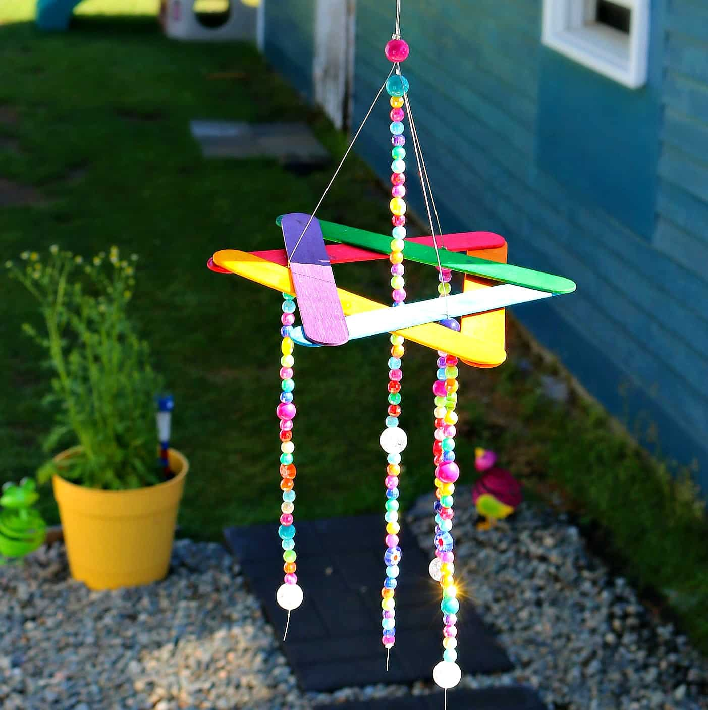 Easy To Make Wind Chimes: EASY Kids Craft- DIY Beaded Wind Chime- Dollar Store DIY