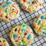 Overloaded M&M Cookies