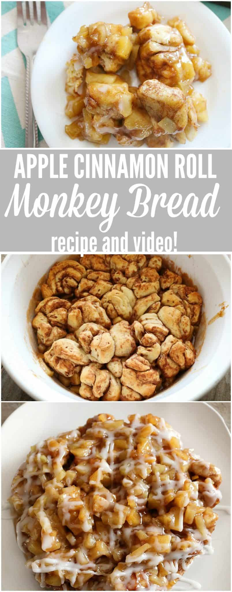 apple cinnamon roll monkey bread pin