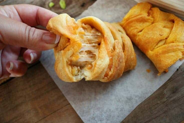 Cheesy Buffalo Chicken Braided Crescent Appetizer