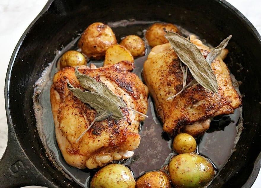 Brown Butter Sage Skillet Chicken