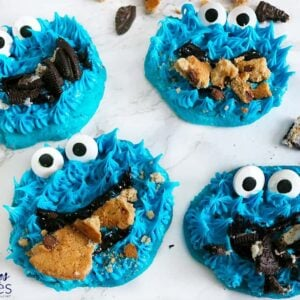 Easy Cookie Monster Cookies Featuring Funfetti!