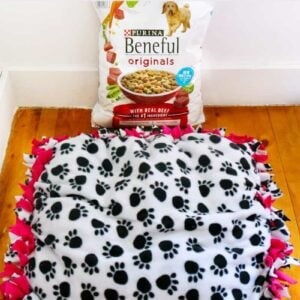 DIY No Sew Dog Bed Tutorial With Yogi and The #NewBeneful
