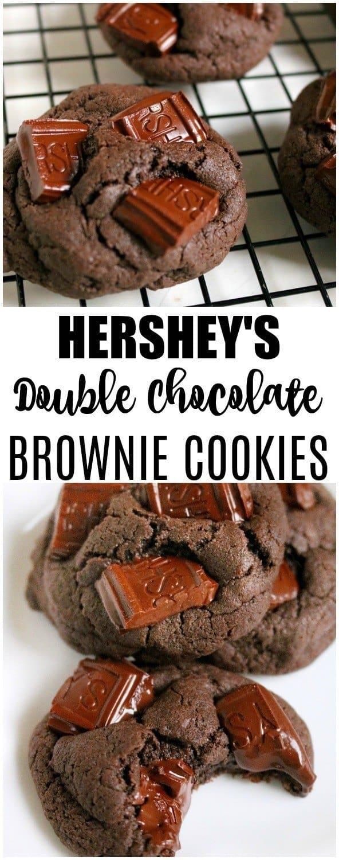 hersheys chocolate chunk brownie cookies