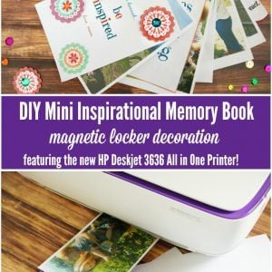 DIY Inspirational Mini Memory Book for Kids- Back To School Locker Decor!