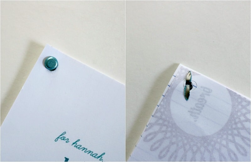 diy mini memory book