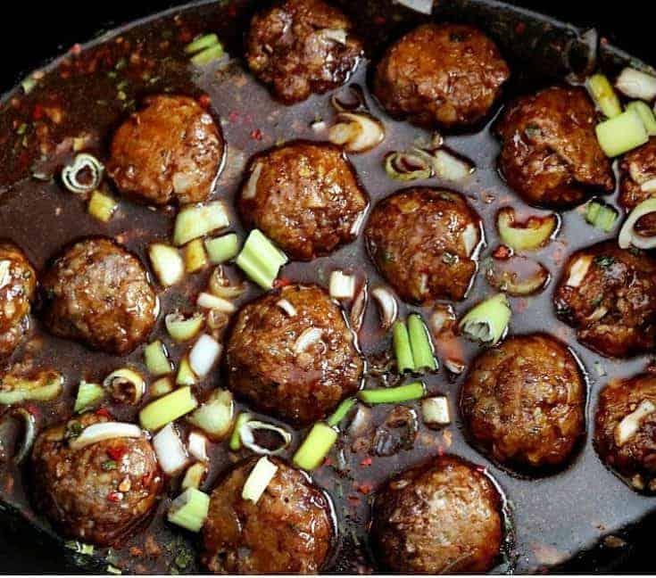 Slow Cooker Korean BBQ Meatballs