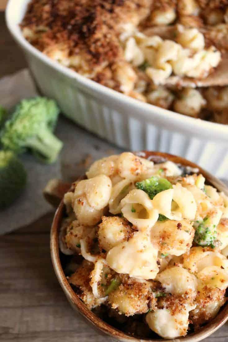 Creamy Broccoli Cheddar Shells & Cheese