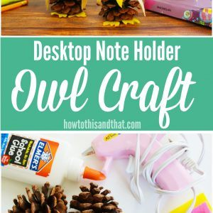 Desktop Note Holder Owl Craft
