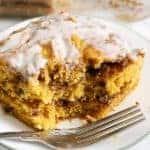 Pumpkin Swirl Coffee Cake & Cream Cheese Icing