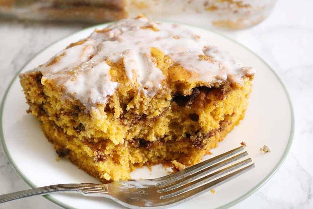 pumpkin swirl layered coffee cake