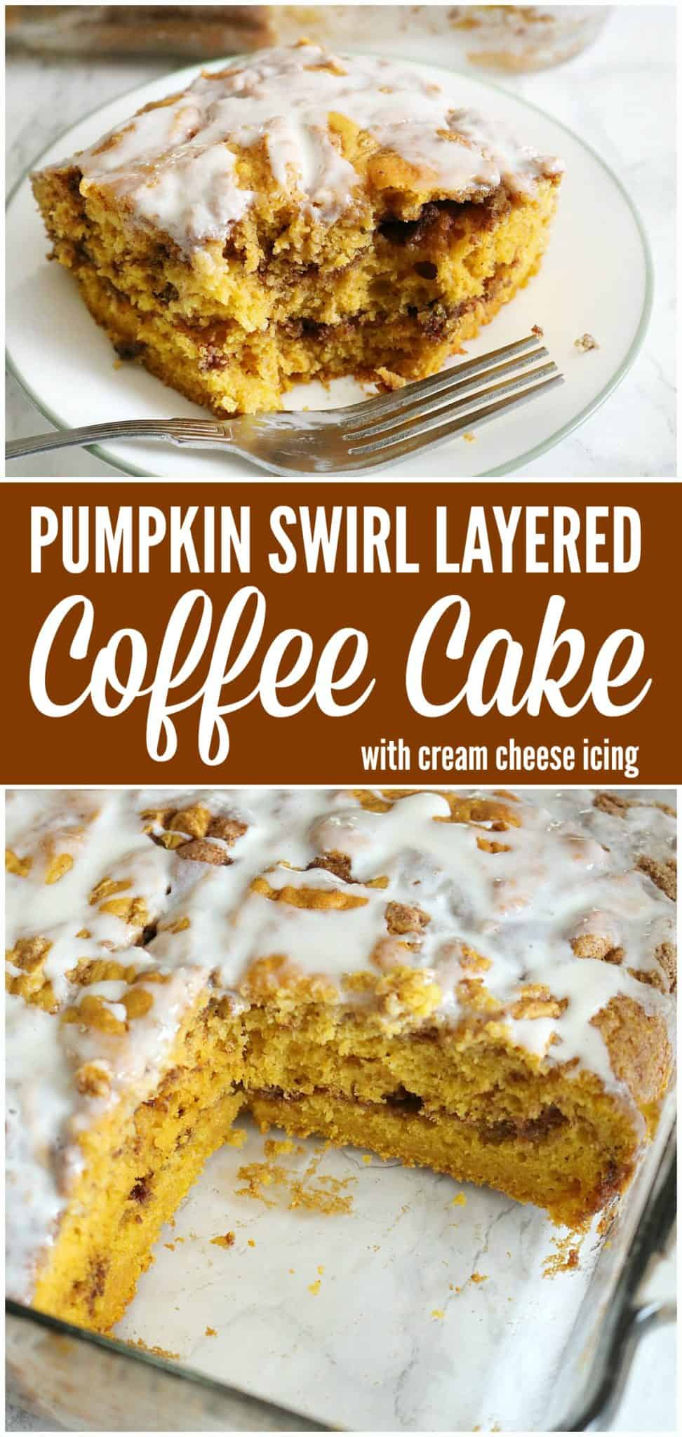 pumpkin swirl layered coffee cake