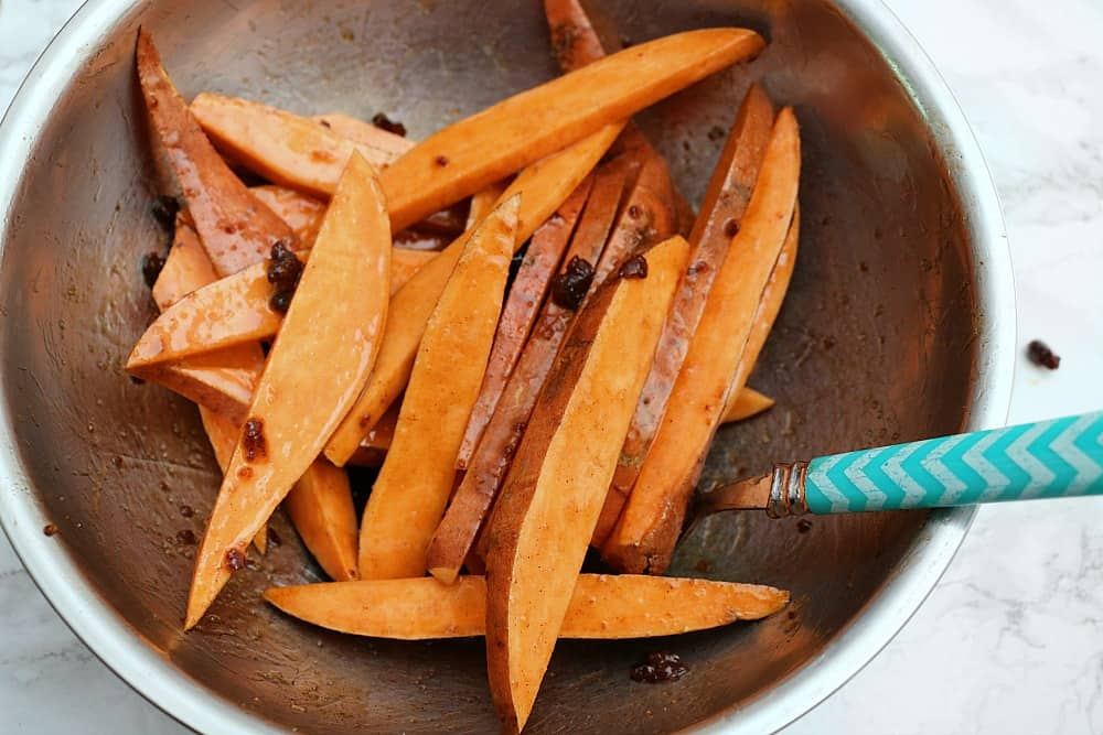 candied sweet potato wedges