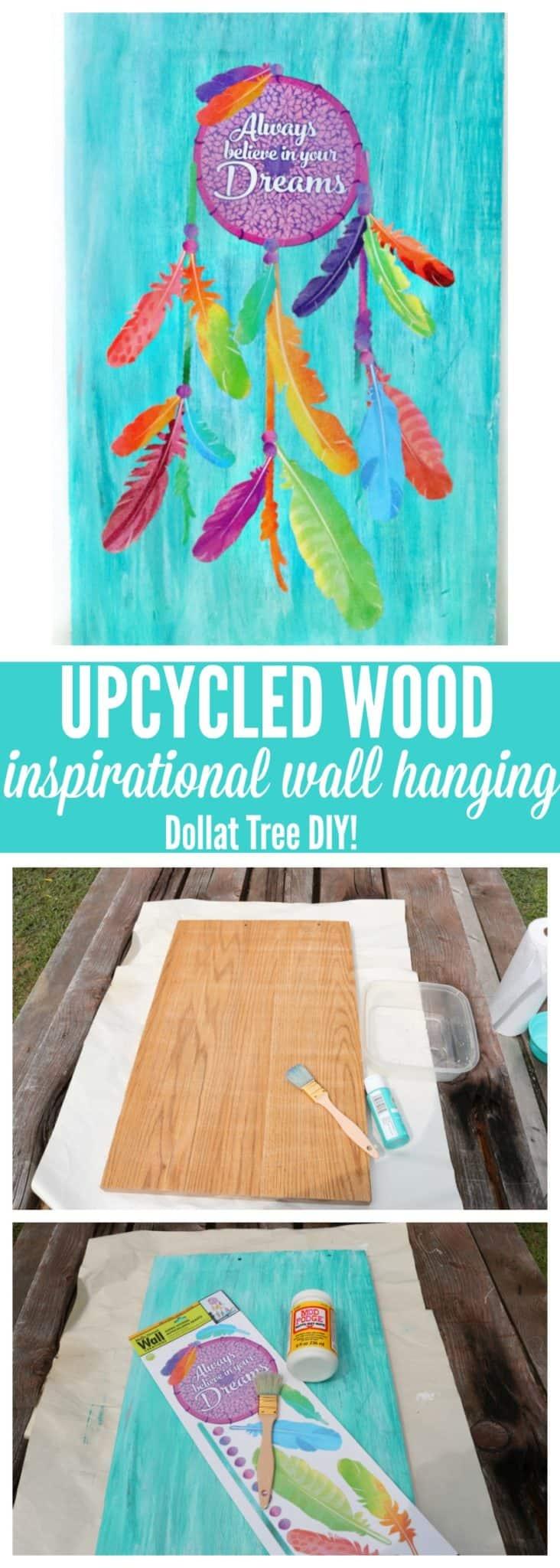 upcycled wood wall hanging