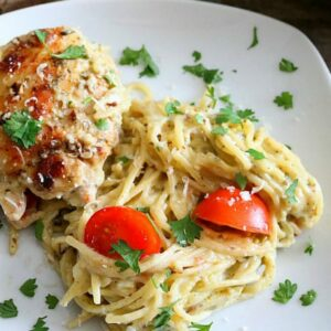 One Pot Caprese Chicken Pasta