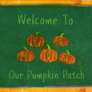Handprint Pumpkin Patch Welcome Mat Craft