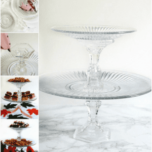 2 Tier Serving Tray- 5 Minutes and $4!
