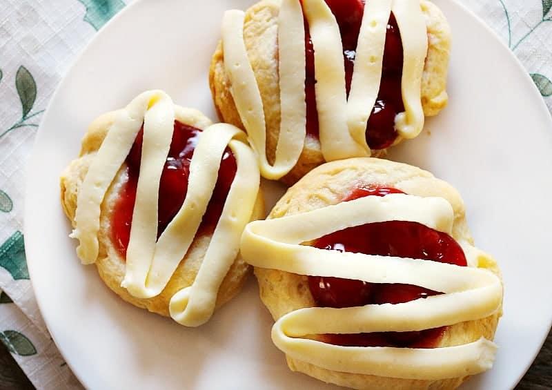 Easiest Cherry Cheesecake Danish