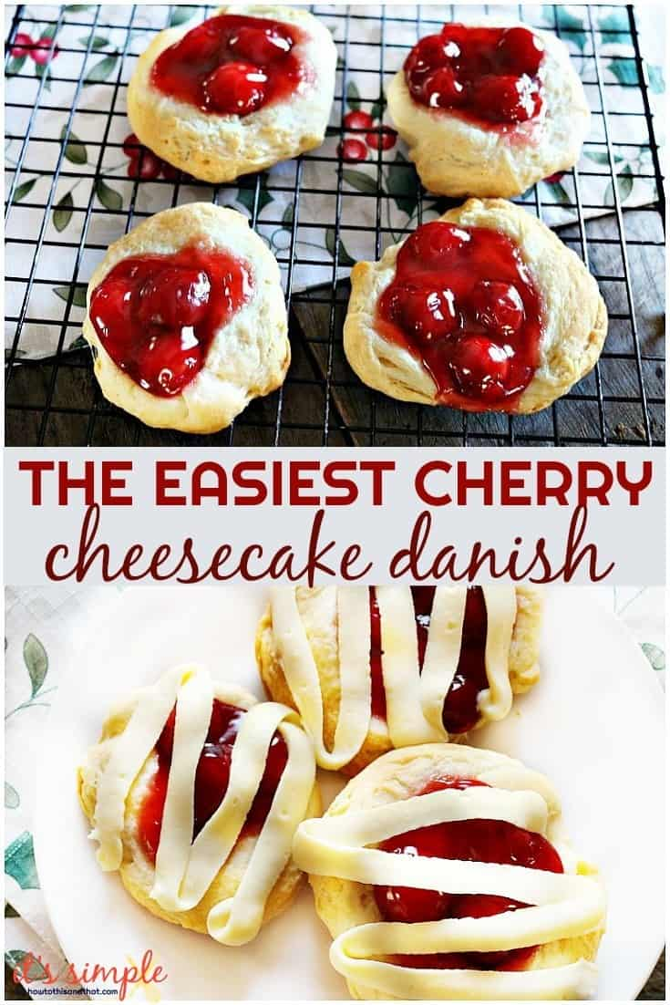 easy cherry cheesecake danish