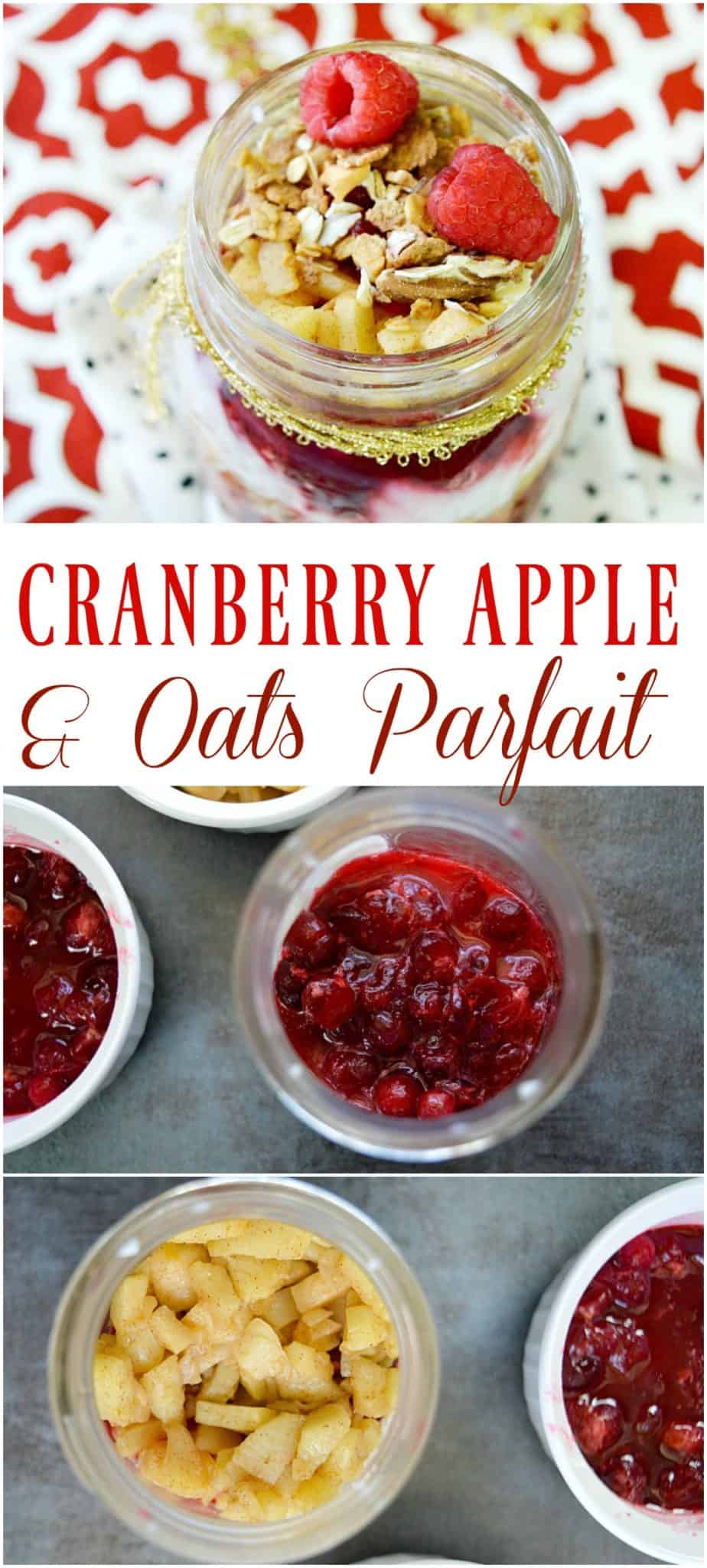 cranberry apple oats parfait