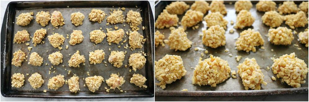 honey mustard popcorn chicken