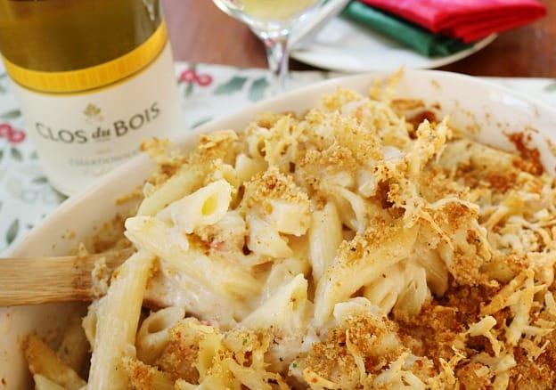 seafood pasta bake