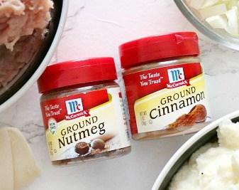 McCormick's ground nutmeg and ground cinnamon