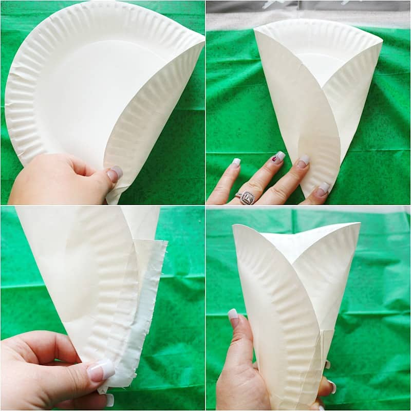 DIY Paper Plate Snack Cups