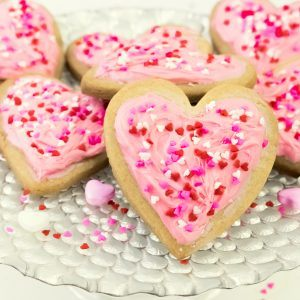 Valentine Sugar Cookies- Super Easy & Adorable!