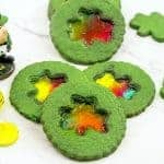 St.Patrick's Day Shamrock Cookies – Stained Glass!