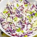 Low Carb Cole Slaw Recipe- Super Easy!