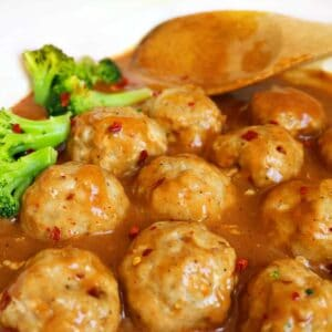 General Tso Chicken Meatballs- Regular and Low Carb Option