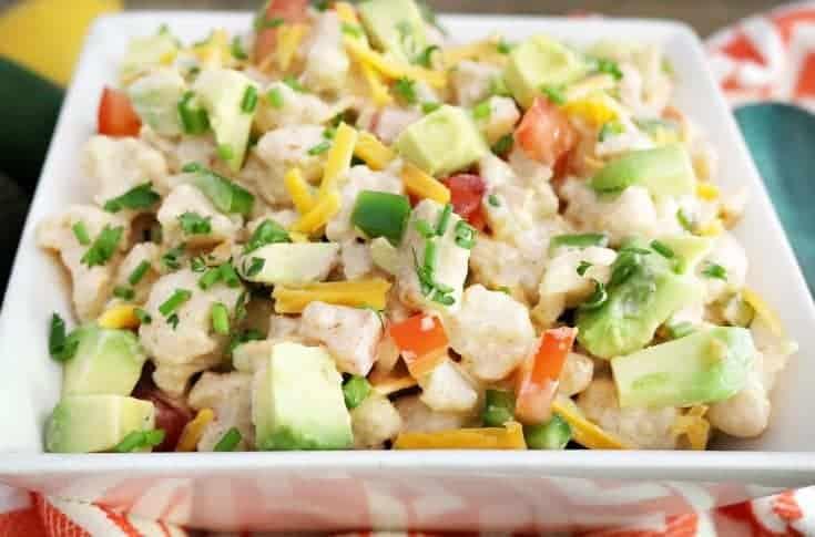 "Keto Diet- Mexican ""Faux-tato"" Salad"