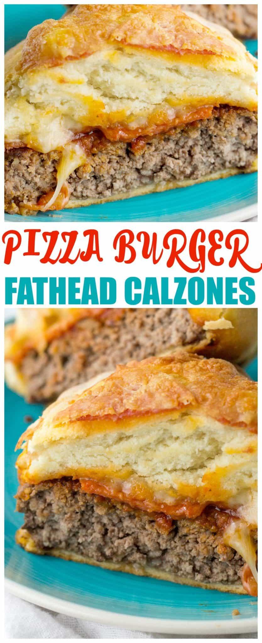 fathead pizza burger