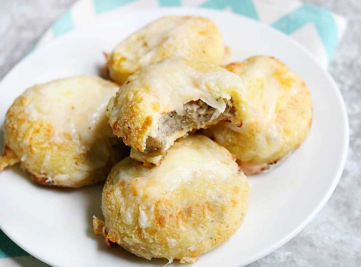 Keto Breakfast Biscuits- Stuffed with Sausage & Cheese