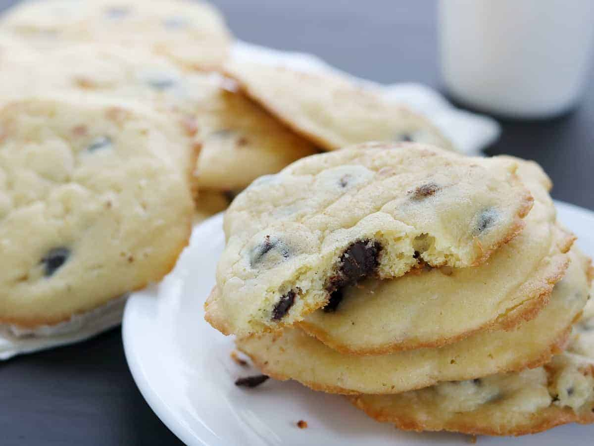 BEST Ever Low Carb Chocolate Chip Cookies- Sour Cream